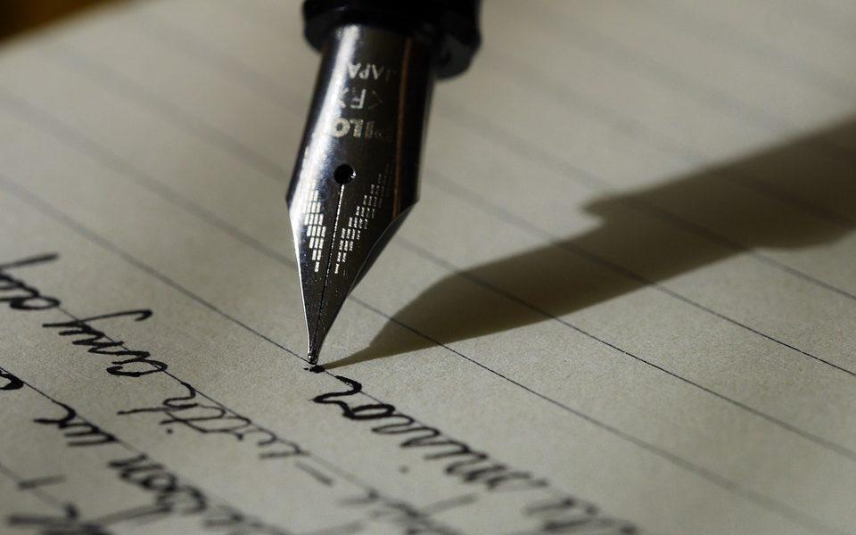 handwritten blogging