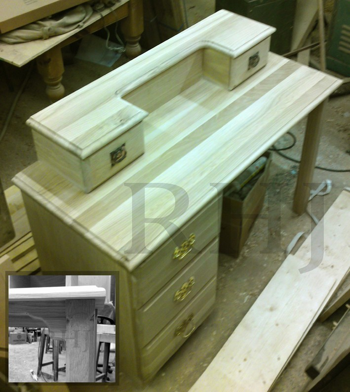 Bespoke furniture in workshop
