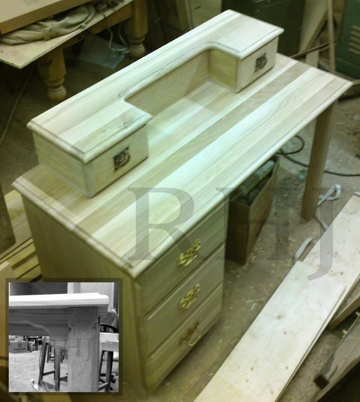 Bespoke furniture in workshop
