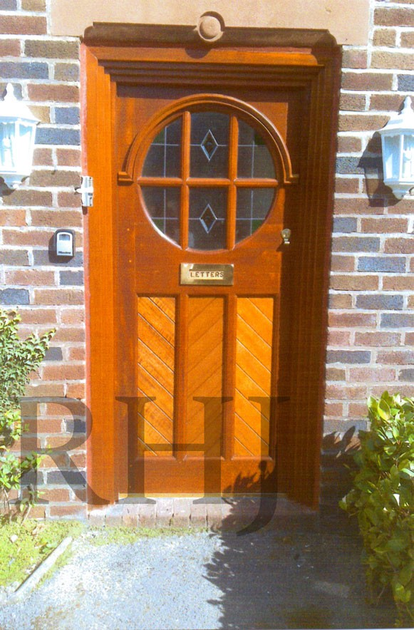 Custom made timber front door