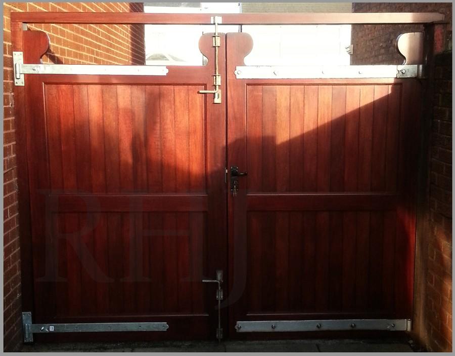 Wooden exterior gates