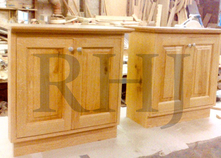 Hand crafted timber cabinets