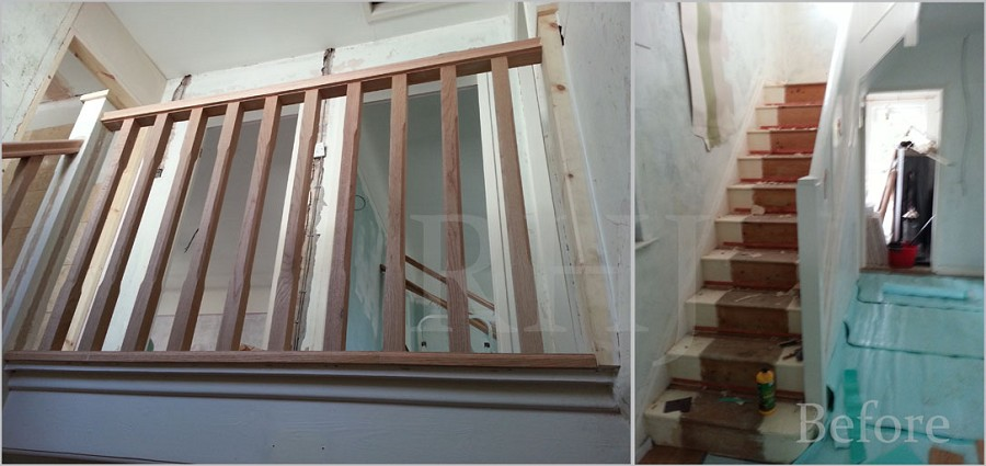 Bannister and stairs