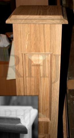 Hand crafted decorative newel post