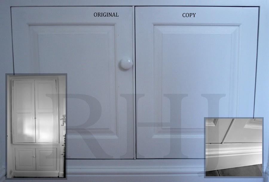 Duplicate cupboard door