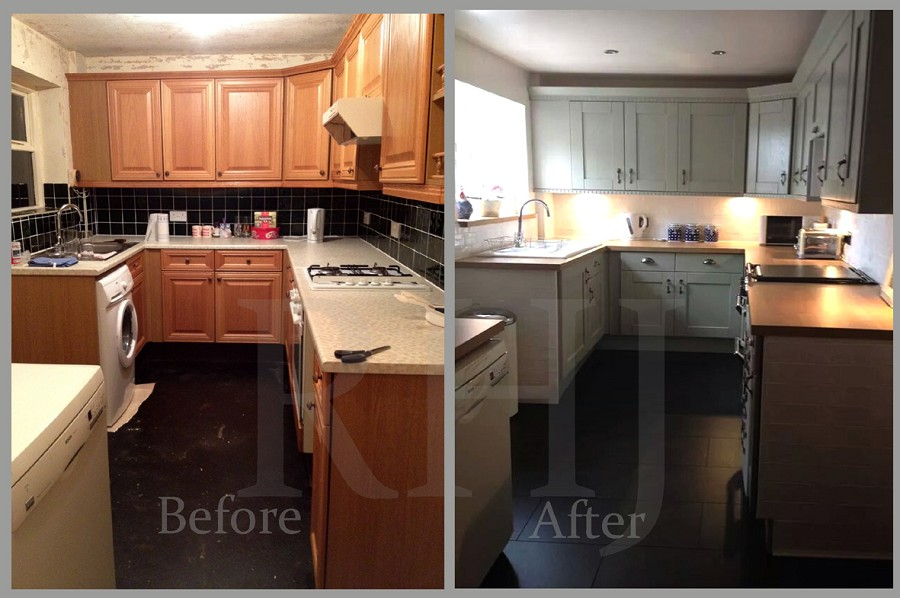 Fitted kitchen before and after