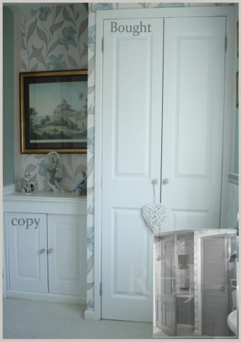 Cupboard doors designed to replicate existing furniture