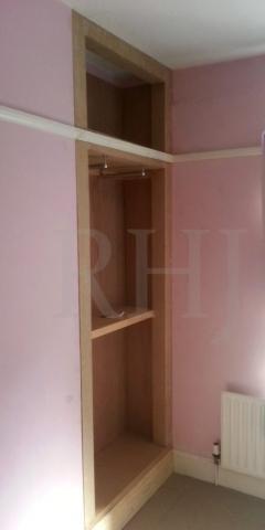 Custom wooden wardrobe