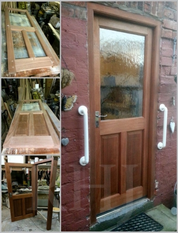 Hand crafted timber back door