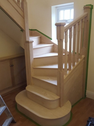 Custom fit timber staircase